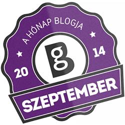 Hónap blogja embléma
